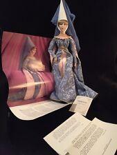 "Franklin Heirloom Mint Guenevere 19"" Porcelain Doll Coa & box musical Camelot"