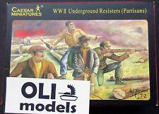 1/72 WWII Underground Resisters (Partisans) FIGURES SET - Caesar 06