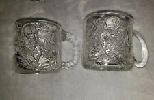 BATMAN FOREVER DC COMICS SET 4 GLASS MUGS 1995 MCDONALDS JOKER ROBIN TWO FACE