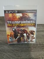 PS3 Transformers Fall of Cybertron New Sealed Embossed Slip Cover FREE SHIPPING!