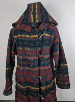 Woolrich Blanket Jacket Hooded Southwestern Coat Native American Size Large