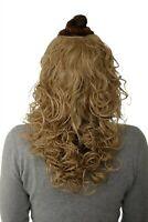 Postiche Demi-Perruque Clip-In Extension Boucles Blond Cendré 40cm H9312-24
