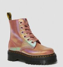 Dr Martens Molly Iridescent Pink Boots, UK 7