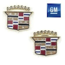 85-99 Cadillac Deville 85-93 Fleetwood Gold Roof Sail Emblems NEW GM PAIR  864