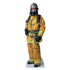 FIREFIGHTER Fireman Fire Fighter Lifesize CARDBOARD CUTOUT Standee Standup Prop