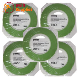 3M Scotch 233+ Fine Line Masking Automotive Refinish Tape 3mm x 55M (5 Rolls)