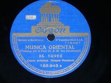 ETHNIC 78 rpm RECORD Odeon TUNISIA Musica Oriental MAQAM MEZMUM / MAQAM DIL