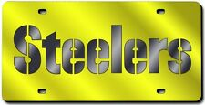 Pittsburgh Steelers Yellow Laser Cut License Plate [NEW] NFL Car Auto Plate CDG