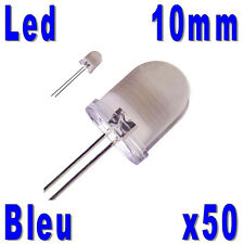 50x LED 10mm Bleues 25000mcd