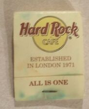 Hard Rock Cafe Matchbook Established In London 1971