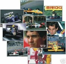 Ayrton Senna NEW COMPLETE Colour Trading Card Set F1 FREE UK POSTAGE