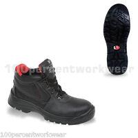 V12 Vtech Safety V6471 ELK Work Chukka Boots Shoes Black Leather Toe Cap Sole UK