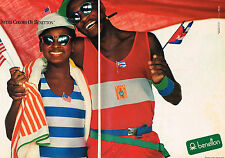 PUBLICITE ADVERTISING  1985   UNITED  COLORS OF BENNETON     (2 pages)