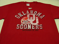 OKLAHOMA SOONERS - 2011 INSIGHT BOWL - DISTRESSED STYLE - MEDIUM SIZE T SHIRT