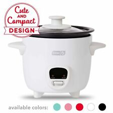 Dash Drcm200Gbwh04 Mini Rice Cooker Steamer with Removable Nonstick Pot, Keep.