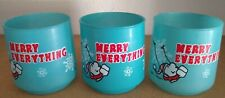 Ziggy Merry Everything Christmas Barware Holiday Glasses Vintage Lot of 3