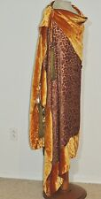 1920-30's Silk Velvet Wrap / Shawl Metallic Gold Velvet Lame' Metallic Tassel