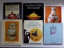 Lot 6 livres porcelaine faience sèvres Nyon castelet céramique
