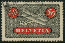 SWITZERLAND - 1923  AIR MAIL 50c 'BLACK & RED'  SG 324  FU Cv £29  [A7503]*