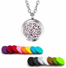 Aromatherapy Essential Oil Diffuser Necklace Pendant Stainless Steel Trinity