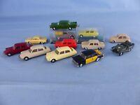 EKO lot de 13 voitures 1/87 Ho pour décor réseau train électrique ou diorama