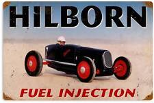 Hilborn Fuel Injection Vintage Metal Speedway Race Sign Home Wall Decor FRC014