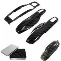 3Pcs Carbon Fiber Remote Key Cover Case Fob For Porsche Panamera Cayenne Macan