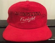 Vintage Corduroy Carolina Freight Trucker Hat  Cap Snapback ABF Free Shipping!