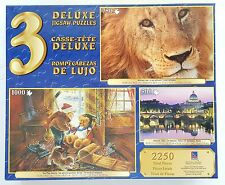 SURE-LOX® 3 Pack 500pc 750pc 1000pc DELUXE JIGSAW PUZZLES Assortment Box #10