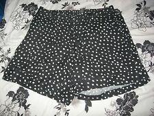 Lane Bryant Black w/ White Dot Linen Shorts w/Tie Belt 18/20