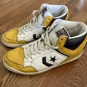 vtg converse weapons 80s magic johnson shoes sneaker basketball size 9.5 Lakers