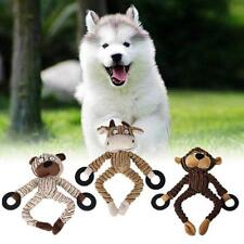 Pet Puppy Chew Squeaker Squeaky Sound Plush Animal Shaped Ball Dog Toys YU