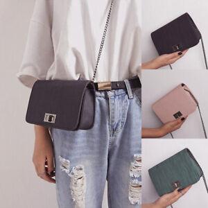 Women Chain Strap Shoulder Bag Handbag Cross Body Bag Buckle Fashion