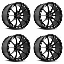 "19"" SAVINI SV-F1 BLACK FORGED CONCAVE WHEELS RIMS FITS BENZ W211 E350 E500 E55"