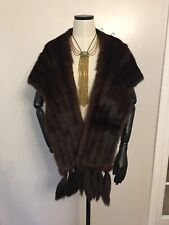 VINTAGE Ladies REAL FUR STOLE SHRUG Excellent Condition Art Deco Wear Women's