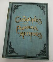 Antique Gleanings From Popular Authors Poetry & Prose Illustrated book 1888