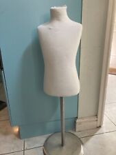 """Child torso Mannequin on silver stand 37"""", 26"""" chest"""
