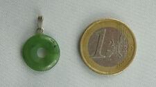 Kleiner DONUT NEPHRIT JADE mit 925er Silberöse ca. 22 x 15 mm