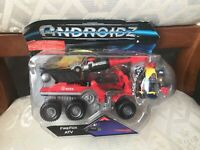 ANDROIDZ FIREFOX ATV VEHICLE WITH FIGURE NEW DAMAGED BOX DISCONTINUED
