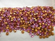 360 Swarovski chaton rhinestones,24ss Rose / Foiled #1100
