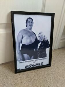WWF WRESTLEMANIA POSTER andre the giant PRINT vintage NEW
