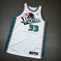 100% Authentic Grant Hill Nike 99 00 Detroit Pistons Game Issued Jersey 48+4""