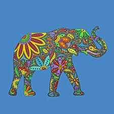 Künstlerische Malerei von Elefanten-Motiv Acryl