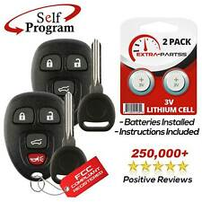 2 New Replacement Keyless Entry Remote Car Fob for 15913416 w/ 2 Chip Plus Keys