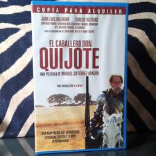 EL CABALLERO DON QUIJOTE (Manuel Gutiérrez Aragón) VHS .  Juan Luis Galiardo