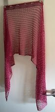 NEW LIBERTY MAGENTA KNITTED LUREX SCARF/ SHAWL