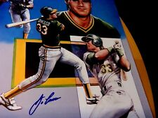 10 JOSE CANSECO Signed 16x20 Athletics Baseball Prints/Photos -JSA Auth. Letter