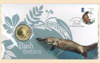 Australia 2013 Bush Babies Platypus Stamp & $1 UNC Coin Cover - PNC