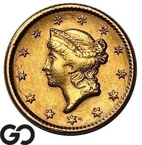 1851 Gold Dollar, $1 Gold Liberty, Type 1 ** Free Shipping!