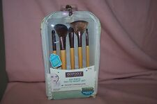 EcoTools Six Piece Day-to-Night Brush Clutch Set, 5 Brush Set Makeup NEW in Pack